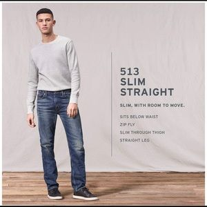 Levi's 513 Slim Straight Jeans / Brand New W/Tags